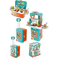 Kitchen with accessories in a suitcase, battery operated - Children's Kitchen Set