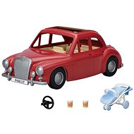 Sylvanian families Family red travel car with pram and car seat - Figure