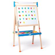"""Woody Blackboard """"ABC"""" Contains Magnetic Letters, Paper Roll, and Cups - Board"""