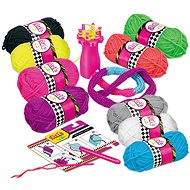 Wiky Knitting scarves with pompoms - Creative Kit