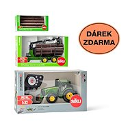 Siku Control - Limited Edition John Deere Tractor + 3155 Trailer + 7049 1:32 Logs - RC Remote Control Car