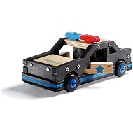 Stanley Jr.K096-SY Kit, police car, wood - Building Kit