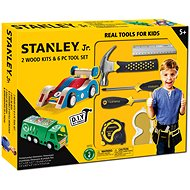 Stanley Jr. U003-K02-T06-SY Set of 2 toy cars and 5 tools. - Set