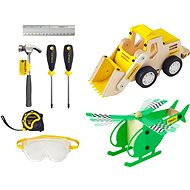 Stanley Jr. U009-K02-T06-SY The set contains a helicopter, a loader and 6 pieces of tools. - Set