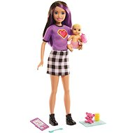 Barbie Nanny Skipolly Pocketer + baby and accessories - Dolls