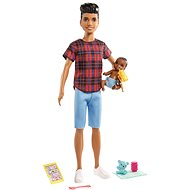 Barbie Nanny Ken + baby and accessories - Dolls