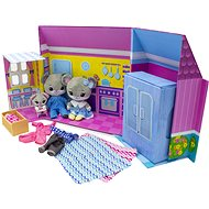 Tiny Tukkins - Deluxe house and 3 stuffed animals with accessories - Figures