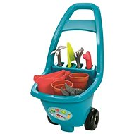 Ecoiffier Garden trolley with tools, flower pot and pot - Bike Trailer