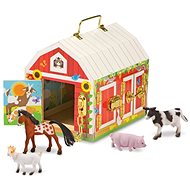 Melissa-Doug Wooden stables with locks - Educational toy