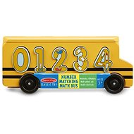 Melissa-Doug Wooden bus with insertion numbers - Educational toy