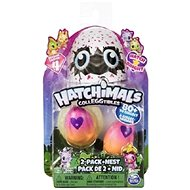 Hatchimals Glowing Pet Animals - 2 Pack + Nest - Figures