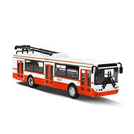 Rappa Metallic Trolleybus, Red - Metal Model