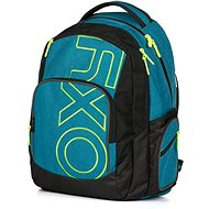 OXY Style Blue / green backpack - School Backpack