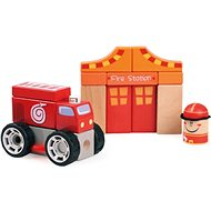 Wooden blocks - firefighters - Wooden kit
