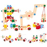 Wooden building blocks in a bucket - Wooden kit