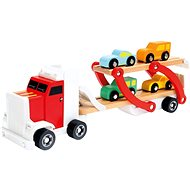 Semitrailer with cars