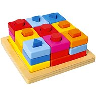 Insert shapes on a coloured board - Puzzle