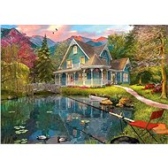 Schmidt Puzzle Holiday house by the lake 1000 pieces - Puzzle