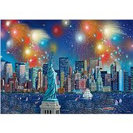 Schmidt Puzzle Statue of Liberty with 1000 pieces of fireworks - Puzzle
