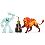 Schleich 42455 Battle for the Superweapon - Frost Monster vs. Fire Lion - Figures