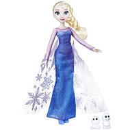 Frozen Elsa doll with a glittering dress and friend - Game set