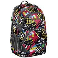 CoocaZoo EvverClevver 2 Checkered Bolts Blue - School Backpack