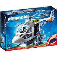 Playmobil 6921 Police Helicopter with LED Searchlight - Building Kit