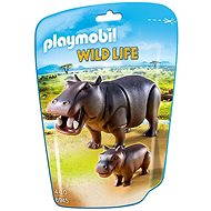 Playmobil Hippo with Calf 6945 - Figures