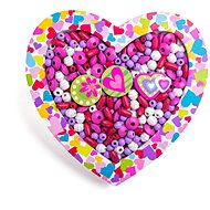 Woody Threaded Beads - Heart - Beads