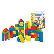 Woody Cubes coloured 50 pieces - 2,5 cm - Picture Blocks
