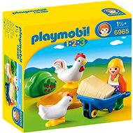 Playmobil 6965 Farmer's Wife with Hens - Toddler Toy