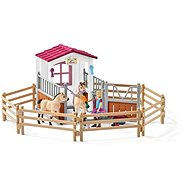Schleich Stables with Arabian horses and a nurse - Game Set