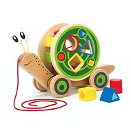 Hape Snail for Inserting Geometric Shapes - Wooden Toy