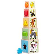 Woody Tower 5 Animal Cubes - Building Kit