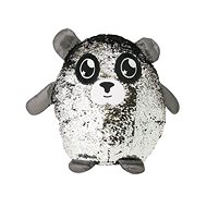 Glitter Palz Sequined Character. Large, Silver and Black - Figurine
