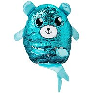 Glitter Palz - Big Teddy Bear with Tail, Blue-silver - Teddy Bear
