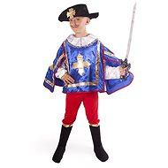 Musketeer, Blue, Size S - Children's costume