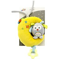 Moon with Owl - Baby Rattle