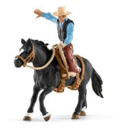 Schleich 41416 Saddled Bronc riding with Cowboy