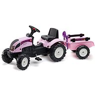 Tractor with flatbed - pink - Pedal Tractor