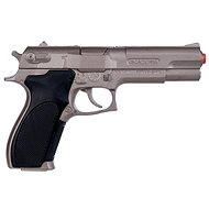 Police pistol silver matt metallic 8 wounds - Toy Gun