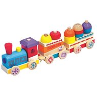 Maxi Colourful Wooden Train Maxi - Educational Toy