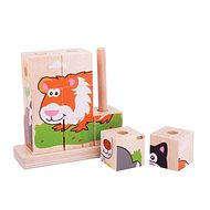 Bigjigs Stacking Puzzle Pets - Picture Blocks