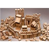 EkoToys Natural Wooden Blocks,  220pcs, XL