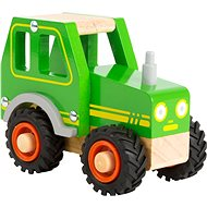 Small foot Tractor, Green - Wooden Toy