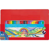 Faber-Castell Markers Connector and Crayons, 50 PCS - Set