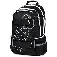OXY Sport Black Line white - School Backpack