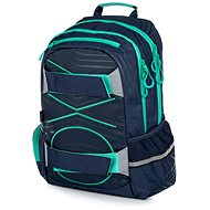 OXY Black Line Green Sport - School Backpack