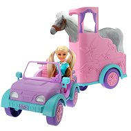 Sparkle Girl Car with Trailer for Horse - Doll Accessory