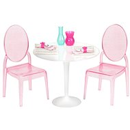 Our Generation Table for Two - a luxurious transparent table with chairs - Doll Accessories